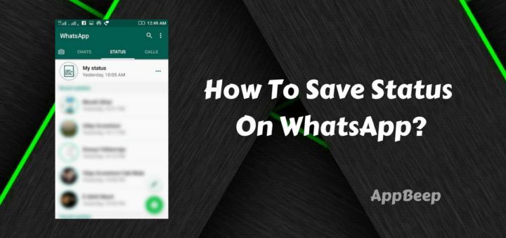saving whatsapp status
